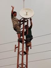 दिप्रुङ चुइचुम्मा गाँउपालिकाको याङ्सोलाटार स्थीत इन्टरनेट जडानको लागि बनाइएको टावर